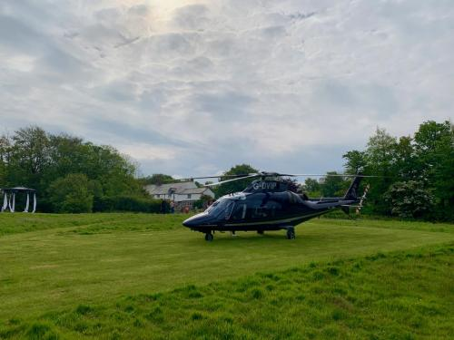 Arrive and depart in style with a private Helicopter